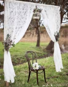 White Crochet Curtains 50 Beautiful Rustic Wedding Decorations