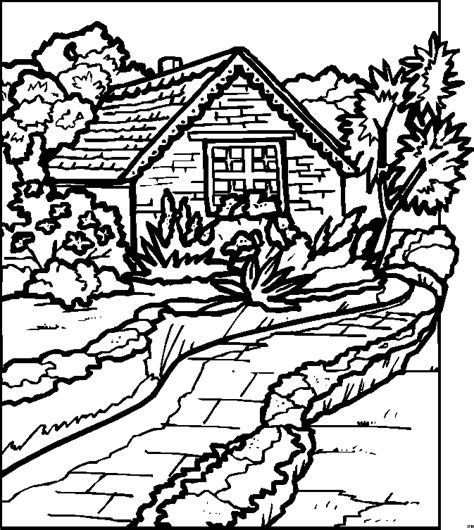 coloring pages for adults landscapes free coloring pages of landscape