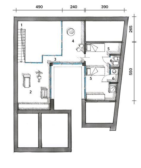 come si disegna una casa una casa con un patio centrale illumina e collega