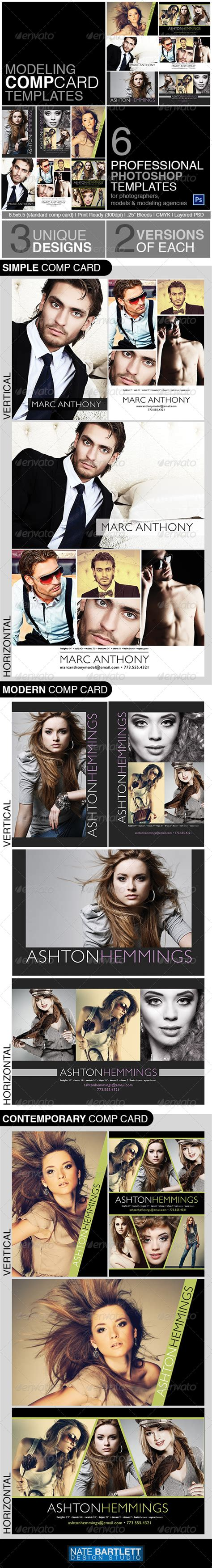 Model Comp Card Template Kit by Print Template Graphicriver Model Comp Card Template Kit