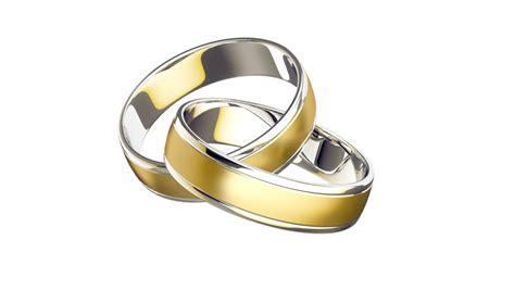 high realistic gold wedding rings loop stock footage