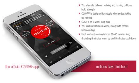Best To 5k Iphone App by C25k 5k Trainer The 1 To 5k Running App On Iphone And Android