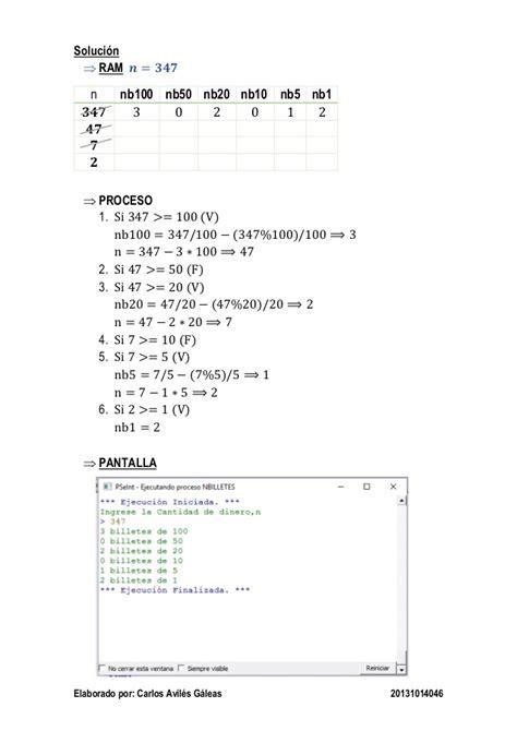 Mba 5050 Tarea 2 2 by Algoritmo Resueltos En Pseint