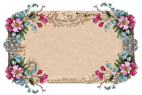 beautiful vintage floral frame from free pretty things for