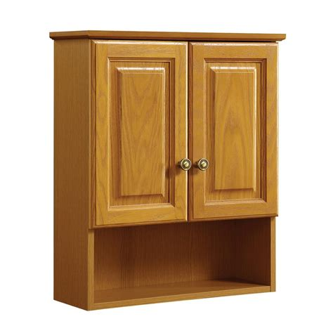 Oak Bathroom Cabinets Storage Design House Claremont 21 In W X 26 In H X 8 In D Bathroom Storage Wall Cabinet In Honey Oak
