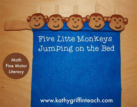 five little monkeys jumping on the bed kathy griffin s teaching strategies five little monkeys