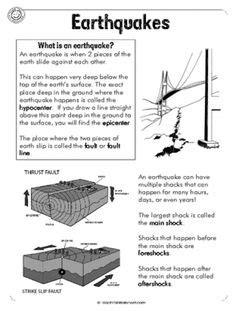 earthquake quiz middle school earthquakes homeschool social studies pinterest cap