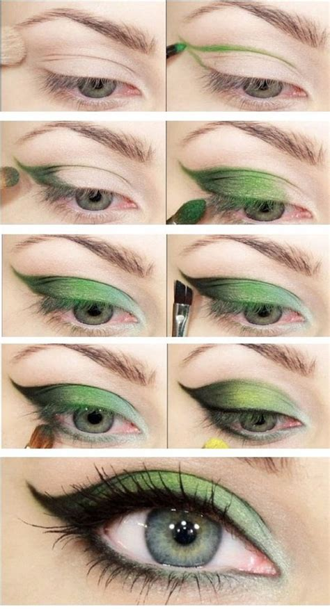 Tutorial Eyeshadow Green | 12 best makeup tutorials for green eyes