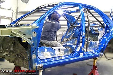 rally truck build subaru rally car building process team bhp