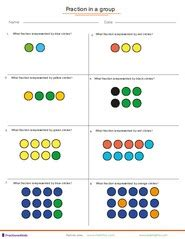 fraction worksheets for children from kindergarten to 7th