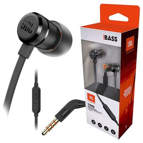 Earphone Jbl T290 Black jbl t290 bass in ear headphones with microphone black