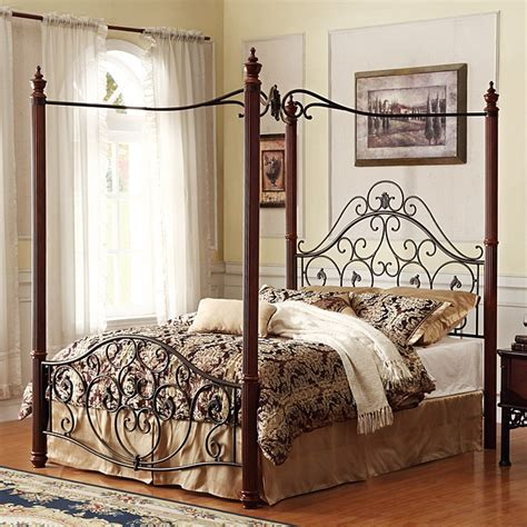 metal canopy bed frame madera deco metal canopy bed frame my home pinterest