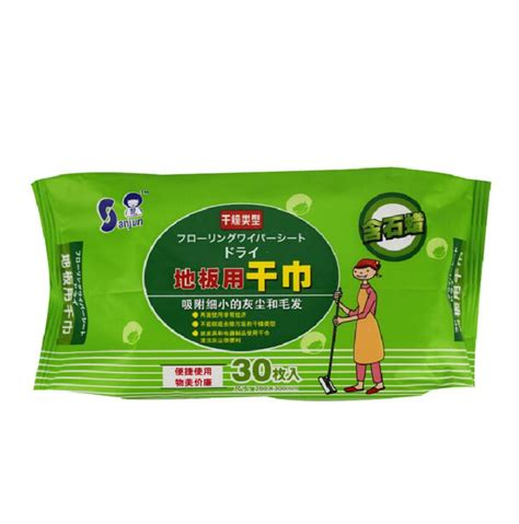 sanjun disposable antiseptic dry floor wipes cleaning mopping wipes refill mop cover for home