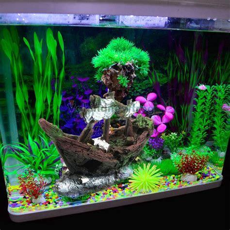 aquarium ornament wreck sunk ship sailing boat destroyer