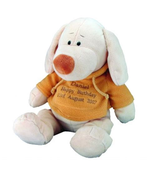 personalised soft toy dog just for gifts