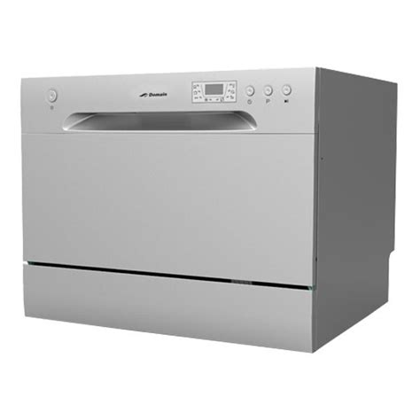 bench top dishwasher new domain 6 place benchtop countertop dishwasher silver