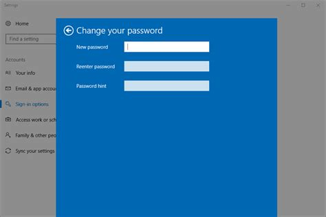 windows reset the password how to change your password in windows 10 8 7