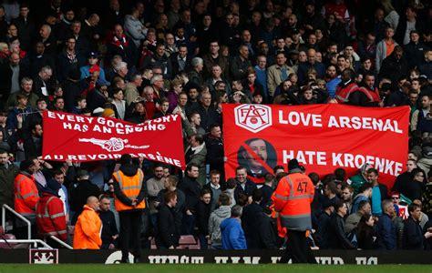 arsenal fans arsenal arsene wenger insists ambitious stan kroenke