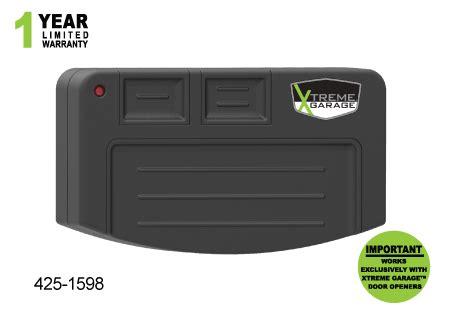 425 1598 Three Button Remote Xtreme Garage Door Opener Manual