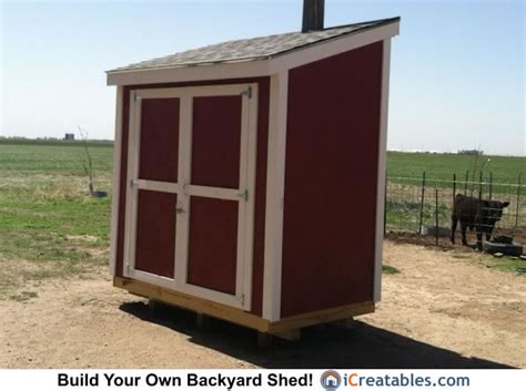 4x8 Sheds by 4x8 Lean To Shed Plans Storage Shed Plans Icreatables