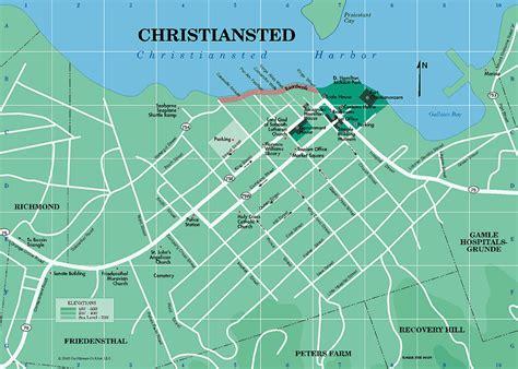 map vi christiansted map st croix u s islands