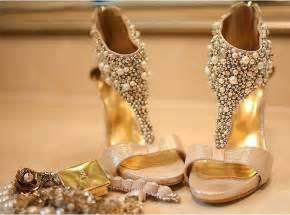 Wedding Shoes Gold Color Gold Wedding Shoes Star Champagne Color Bride Wedding Shoes Rhinestone Pearl Stiletto Platform