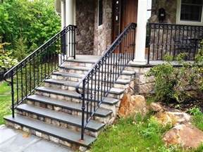 Outdoor Metal Handrail Stairs Marvellous Metal Handrails For Outdoor Steps Short