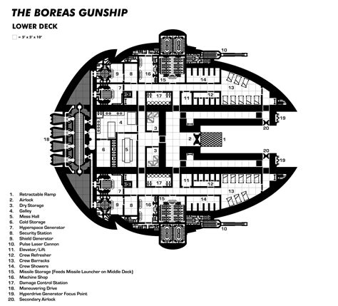 spaceship floor plan sci fi spaceship maps creative commons licensed maps