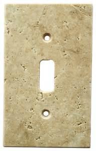 light walnut travertine switch plate cover toggle 2 75 quot x4