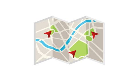 navigation city map and icons animation stock animation a city map animation with digital satellite gps pin point