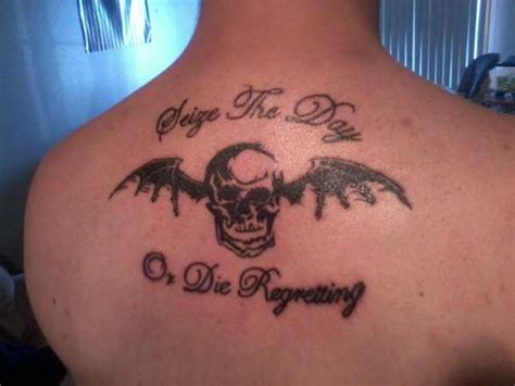 a7x tattoo designs avenged sevenfold seize the day lyrics and winged skull