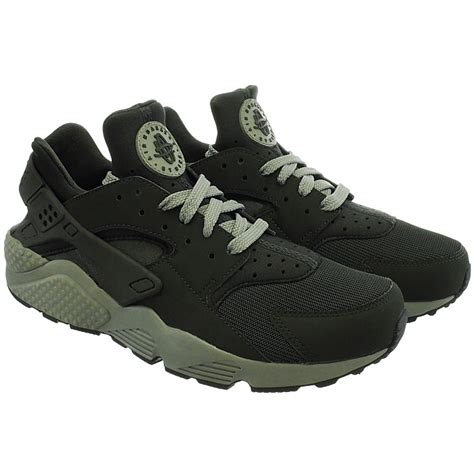 Nike Mid Sneakers Casual nike air huarache s mid cut sneakers beige green
