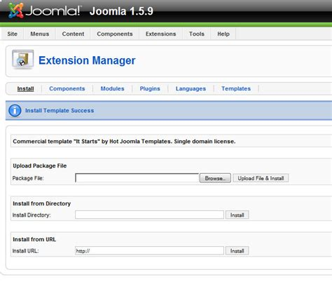 tutorial template joomla 3 joomla template installation tutorial hotthemes