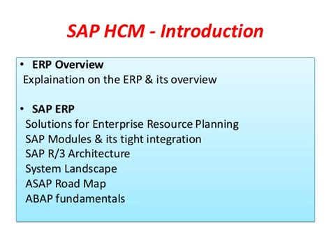 Mba Related Sap Courses by Sap Hr Hcm Advance Level Demo