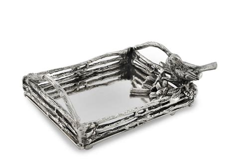 8 quot bird branches tray silver from one kings lane