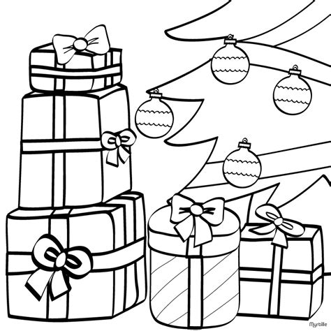 Christmas Tree Coloring Pages Christmas Presents Under Tree Coloring Pages With Presents