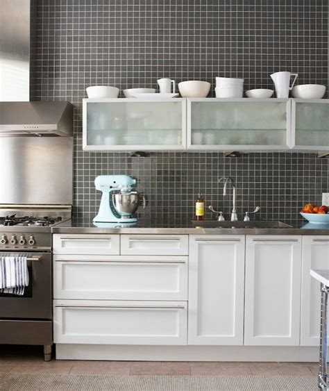 black grid backsplash kitchen cameron