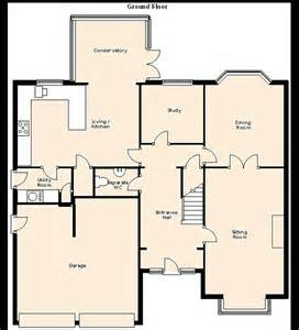 uk floor plans 4 bedroom house for sale in windermere avenue ashby de la