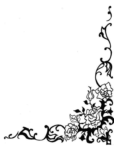 gambar bingkai bunga hitam putih harian nusantara