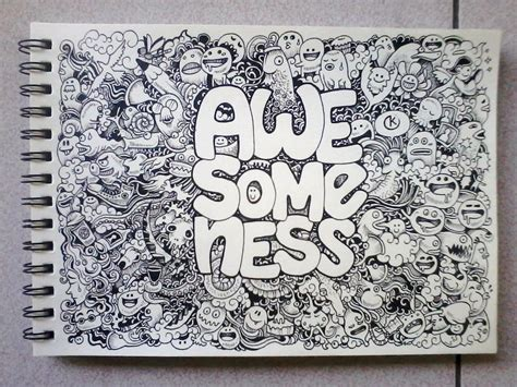 how to draw a random doodle awesomeness doodles by kerbyrosanes on deviantart