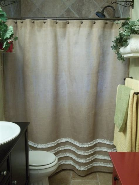 burlap bathroom decor burlap shower curtain in natural tan with by