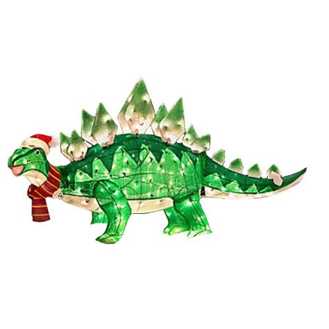 Dinosaur Lawn Decorations by Outdoor Animated Tinsel Stegosaurus