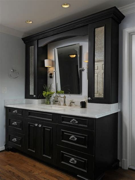Black And White Bathroom Cabinets by Best 25 Black Bathroom Vanities Ideas On