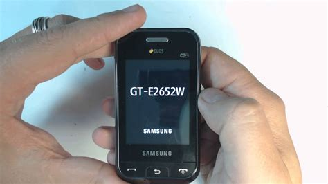reset samsung duos to factory settings samsung ch duos e2652w factory reset youtube