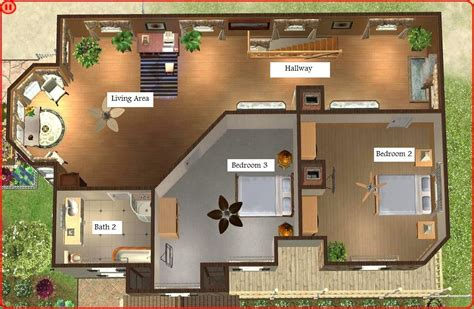 House Floor Plans With Loft layout for 4 bedroom house home design