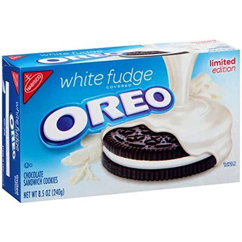 Oreo Import oreo limited edition sandwich cookies white fudge
