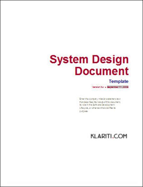 software design document template word 3 ms word templates for design phase of software