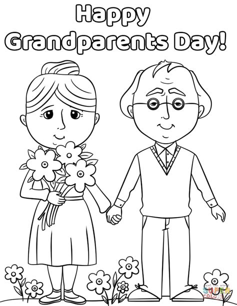 coloring page for grandparents day happy grandparents day coloring page free printable