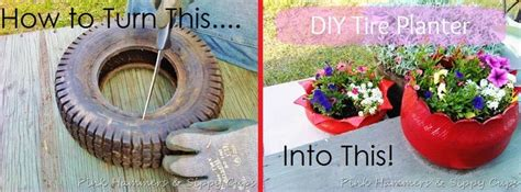 How To Turn A Tire Into A Planter by 32 Best Images About Tire Crafts On Gardens