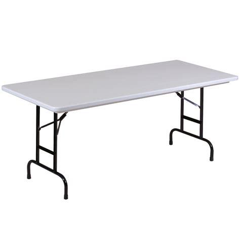 Folding Table Adjustable Height Correll R Series Ra3096 30 Quot X 96 Quot Gray Granite Plastic Adjustable Height Folding Table
